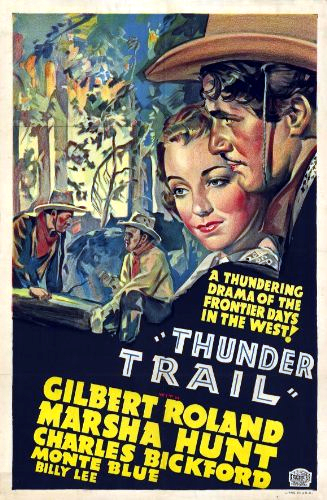 Thunder Trail (1937) Marsha Hunt - Movie Poster