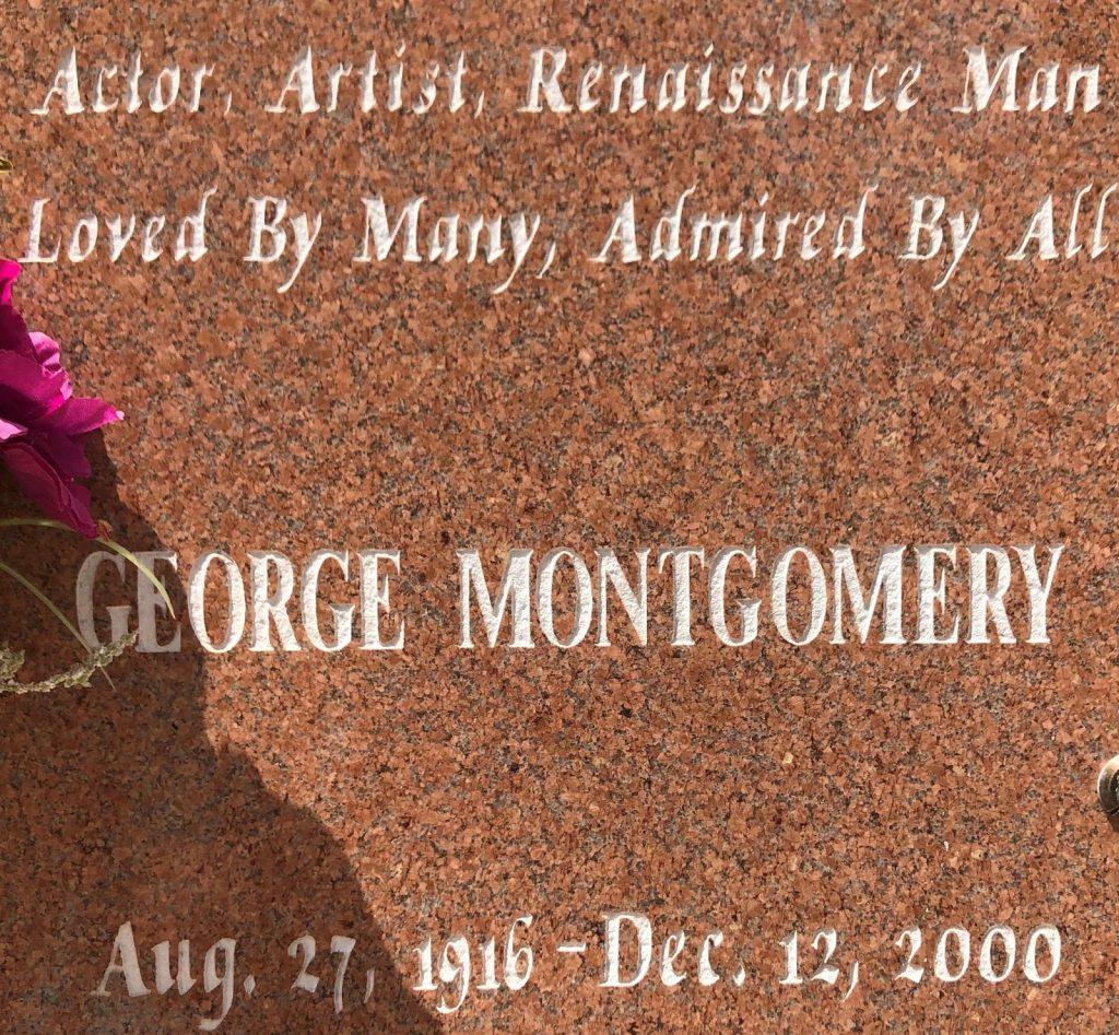 George Montgomery Headstone