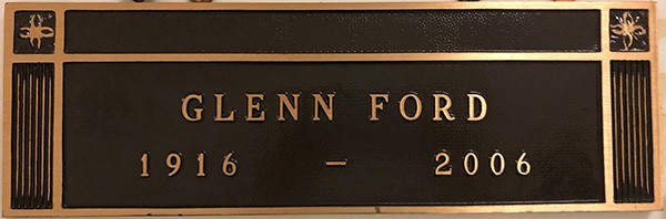 Glen Ford Headstone
