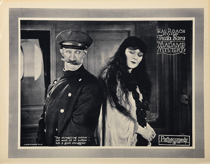 Hal Roach and Theda Bara in Madame Mystery (1926)