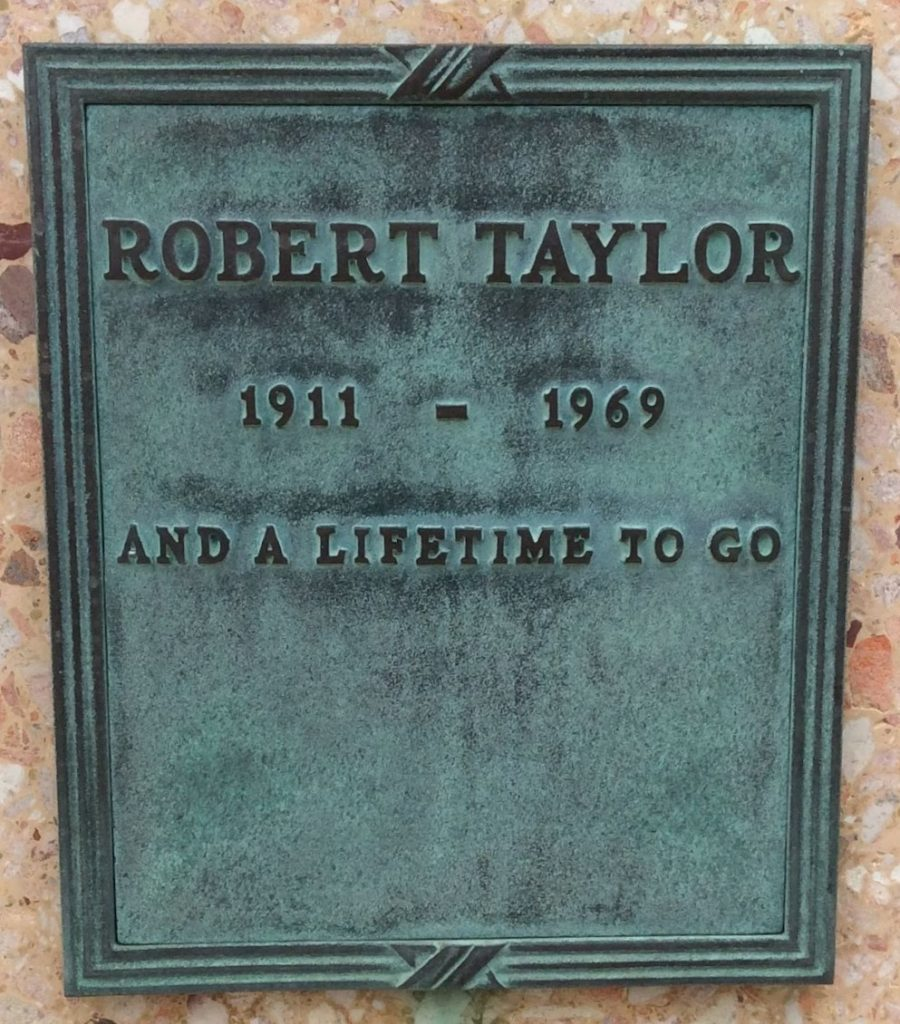 Robert Taylor Headstone
