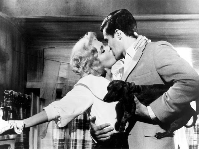 Richard Beymer, Tuesday Weld and Jessica, in Bachelor Flat (1962).