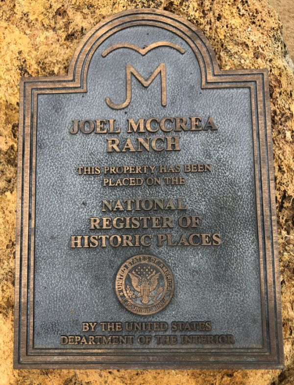 Joel McCrea Ranch National Register of Historic Places