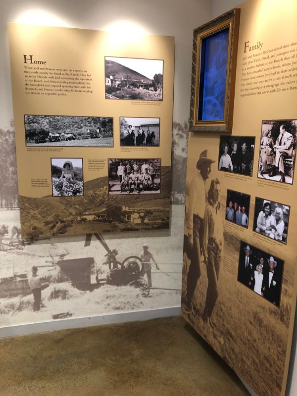 Joel McCrea Ranch Exhibit Home and Family