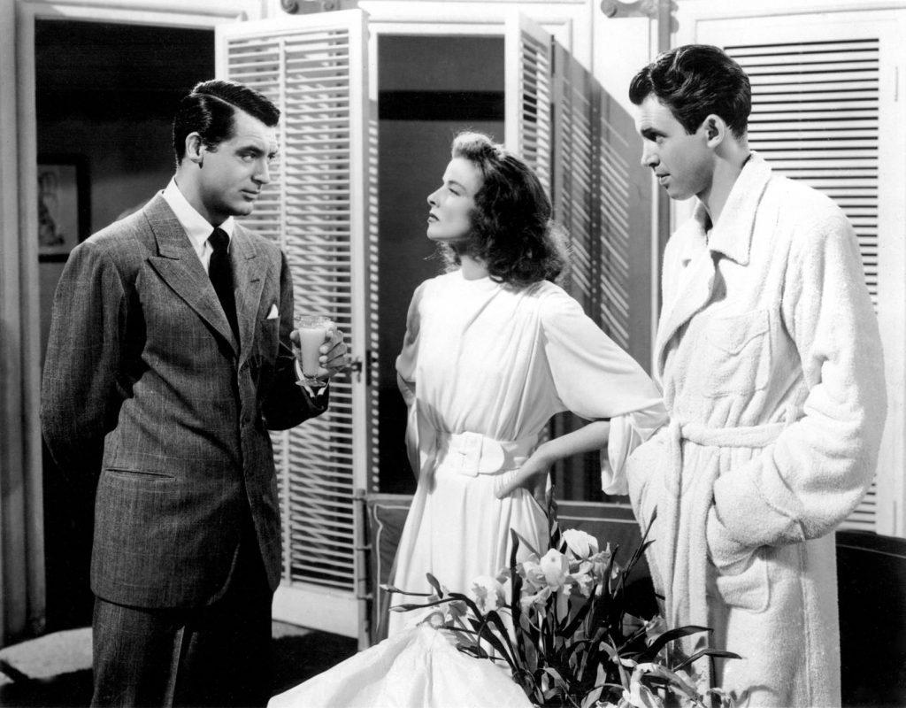 Cary Grant, Katharine Hepburn, and James Stewart in The Philadelphia Story (1940)
