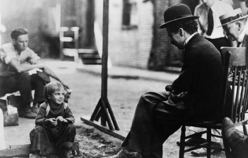 Charlie Chaplin and Jackie Coogan Behind the Scenes of The Kid (1921)