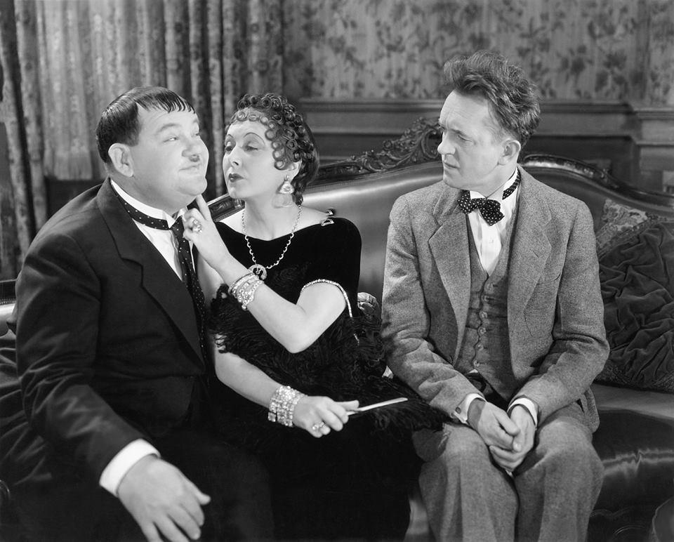 Mae Busch, Stan Laurel, Oliver Hardy