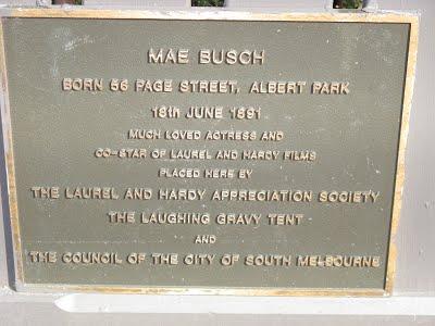 Mae Busch Plaque