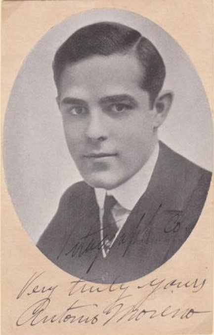 Antonio Moreno Headshot Autograph