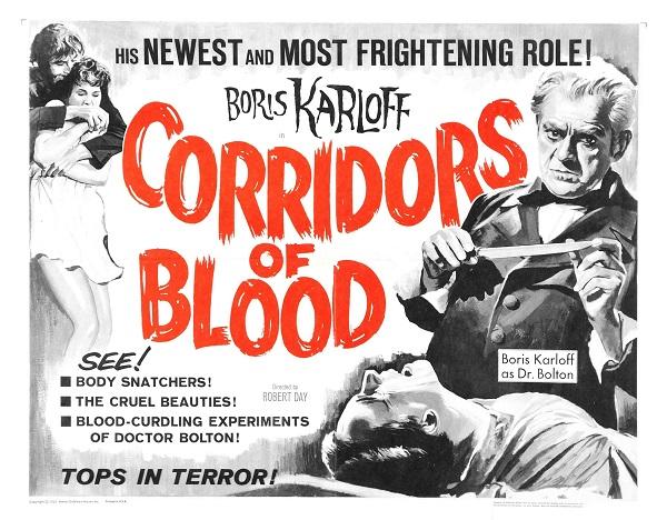 Boris Karloff Corridors of Blood (1958) Movie Poster