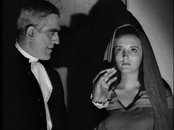 Boris Karloff and Anna Lee in Bedlam (1946)