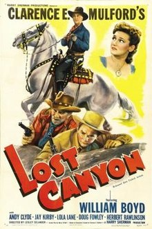 William Boyd and Lola Lane in Lost Canyon (Lesley Selander, 1942)