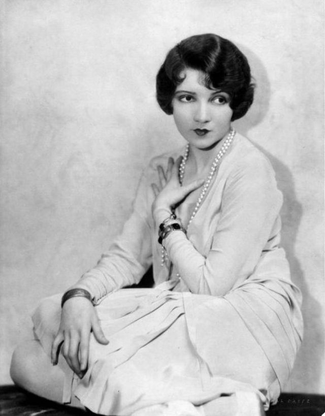 Claudette Colbert in an early publicity shot, c. the 1920's.
