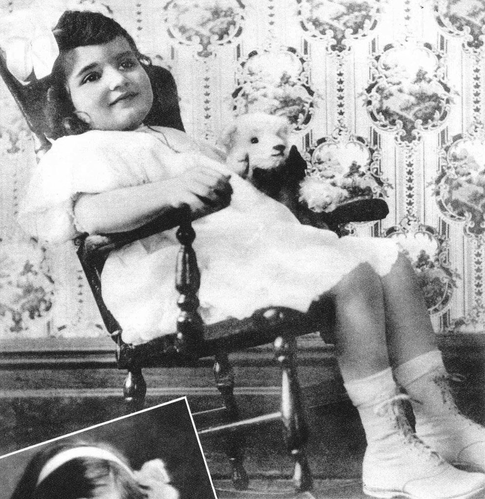 Claudette Colbert as a child