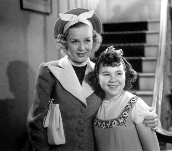 Gloria Stuart, shown here with Jane Withers in a scene from Keep Smiling (1938)