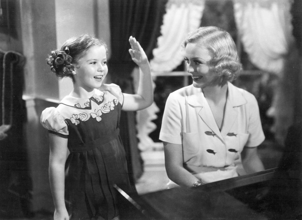 Gloria Stuart and Shirley Temple