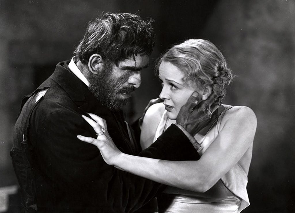 Gloria Stuart and Boris Karloff in a publicity photo for her first significant movie, The Old Dark House (1932)