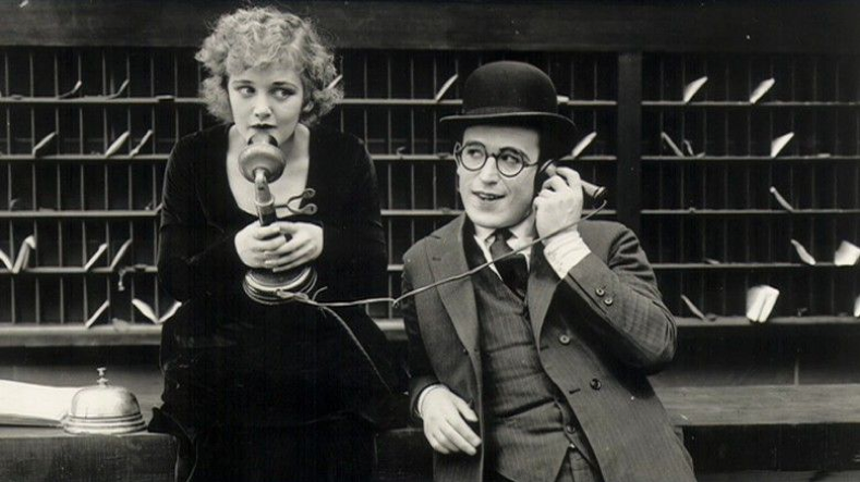 Mildred Davis and Harold Lloyd in Number, Please? (1920)