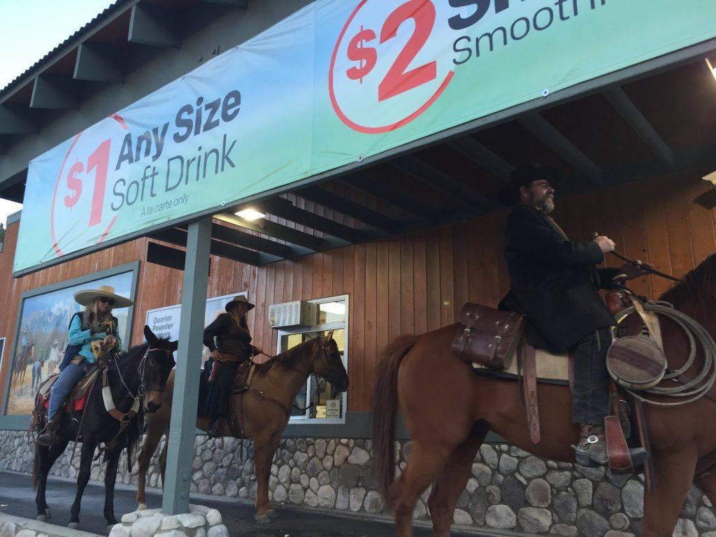 Lone Pine Film Festival Horses McDonald's