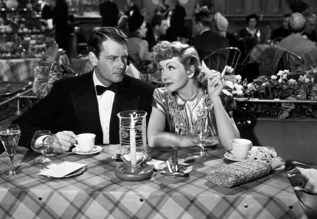 "A scene from ""The Palm Beach Story,"" with Joel McCrea and Claudette Colbert."