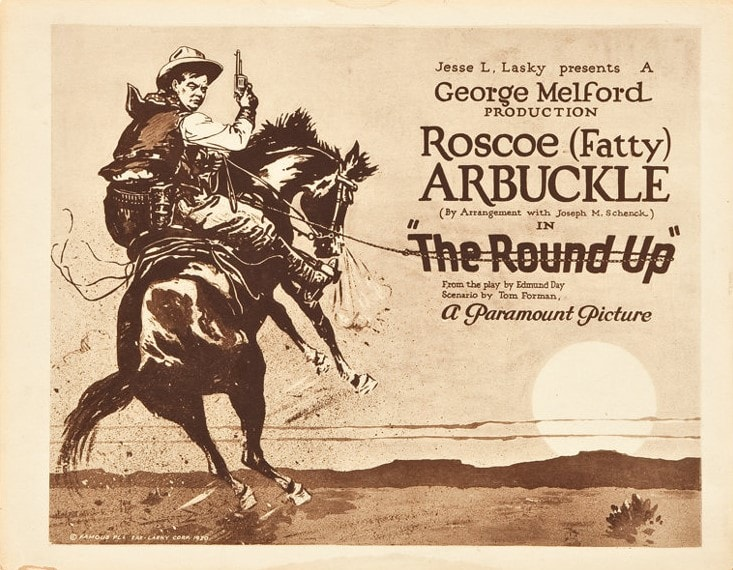 The Round-Up (1920) Movie Poster Fatty Arbuckle