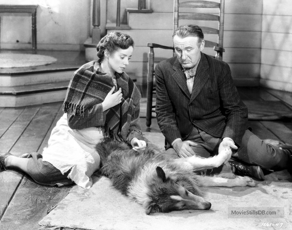 Elsa Lanchester and Donald Crisp in Lassie Come Home (1943)