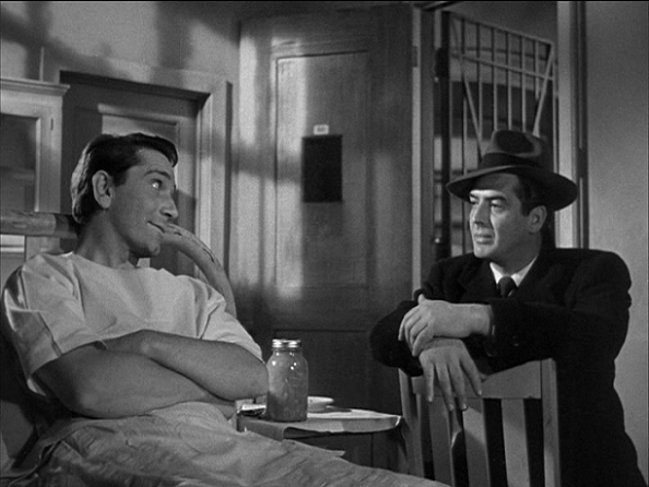 Richard Conte and Victor Mature in Cry of the City (1948)