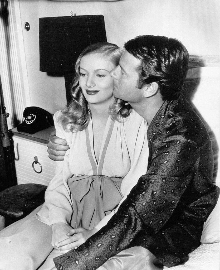 Joel McCrea and Veronica Lake on the set of Sullivan's Travels (1941)