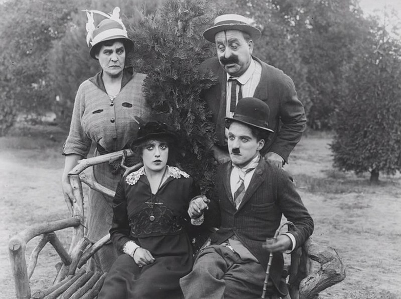 Getting Acquainted (1914),  Phyllis Allen, Mabel Normand, Mack Swain, Charlie Chaplin