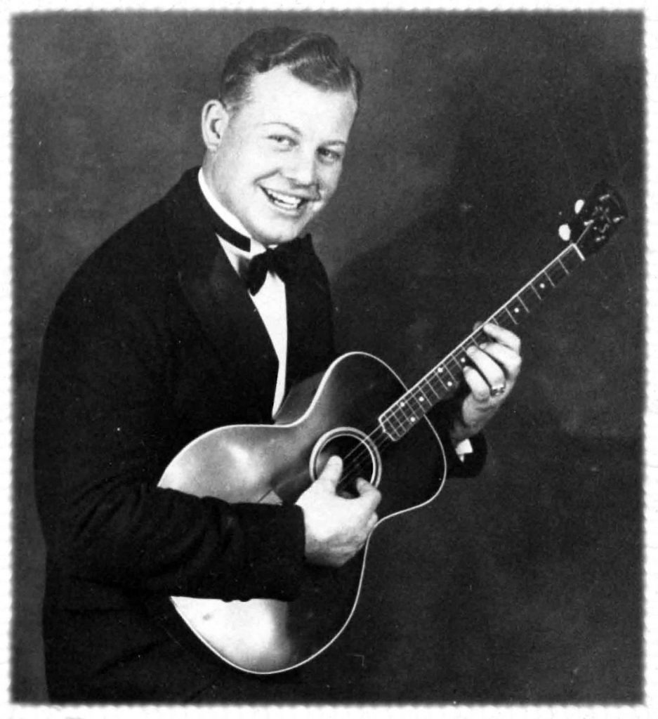 A young Burl Ives with his guitar