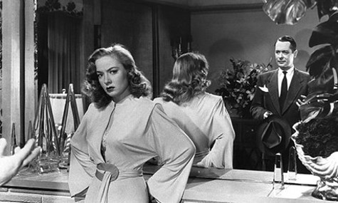 Audrey Totter and Robert Montgomery in Lady in the Lake (1947)