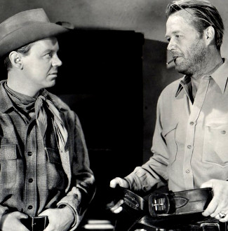 James Lydon and Wayne Morris in The Desperado (1954)