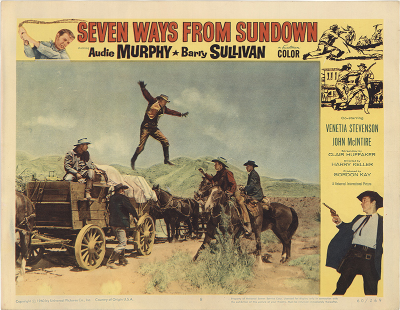 Seven Ways Fron Sundown (1960) Lobby Card