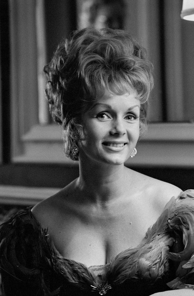 Debbie Reynolds pictured on the set of The Unsinkable Molly Brown (1964).