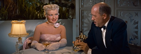 Betty Grable & Fred Clarke in How to Marry a Millionaire (1953)