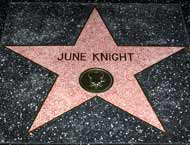 June Knight's star on the Walk of Fame