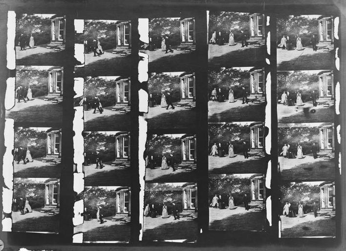 A glass copy negative of Roundhay Garden Scene, Louis Le Prince