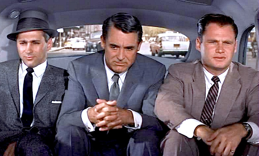 cary grant, north by northwest, kidnapped in car