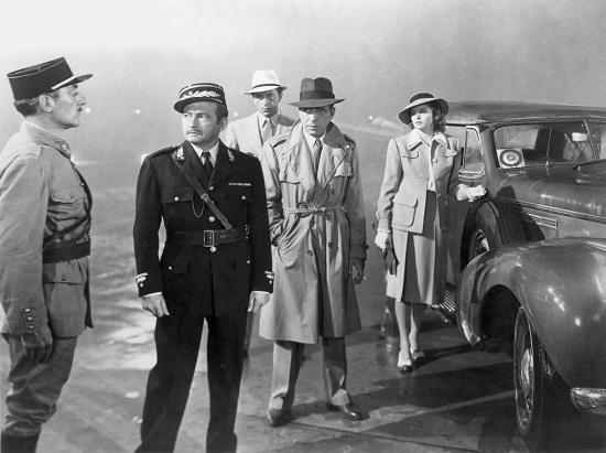 Claude Rains, Humphrey Bogart, Ingrid Bergman, and Paul Henreid Casablanca (1942)