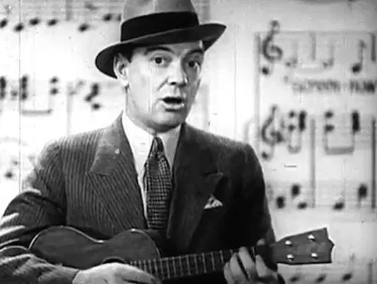 Cliff Edwards Singing