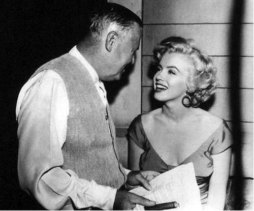 Henry Hathaway and Marilyn Monroe on the set of Niagara