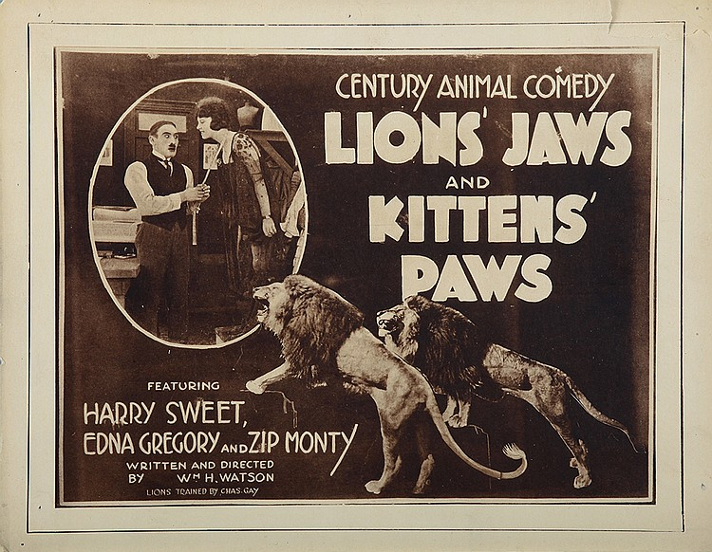 Lions' Jaws and Kittens' Paws (1920)