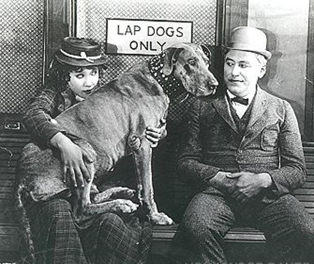 Louise Fazenda, Mack Sennett, and Teddy.