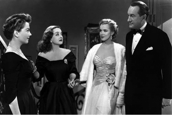 Anne Baxter, Bette Davis, Marilyn Monroe, George Sanders All About Eve