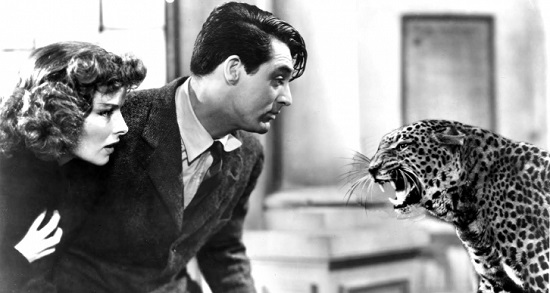 Katharine Hepburn and Cary Grant Bringing Up Baby (1938) Baby the Leopard