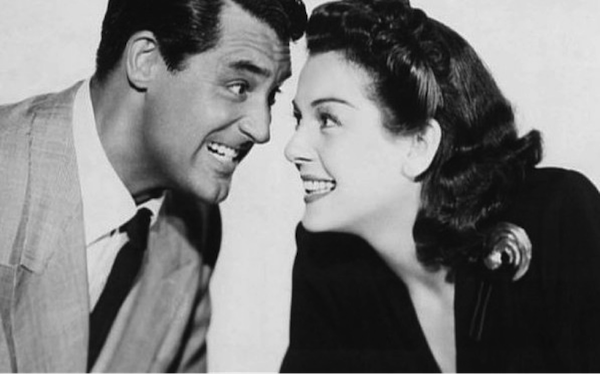 Cary Grant and Rosalind Russell His Girl Friday