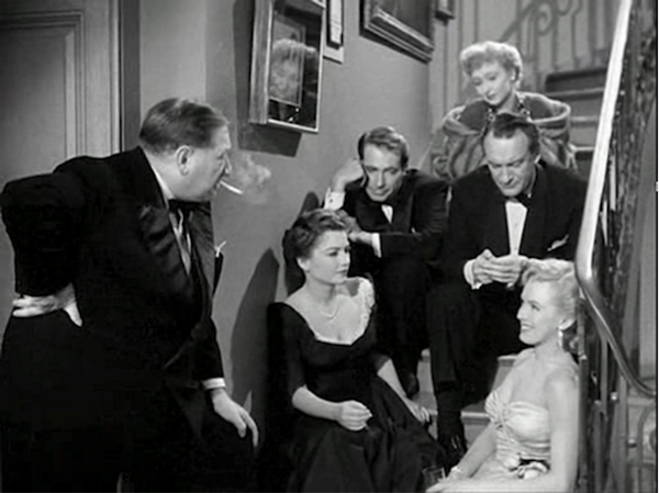 Gregory Ratoff, Anne Baxter, Gary Merril, Celeste Holme, George Sanders, Marilyn Monroe All About Eve