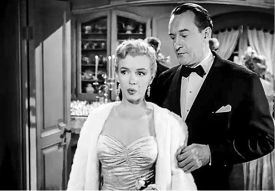 Marilyn Monroe George Sanders All About Eve