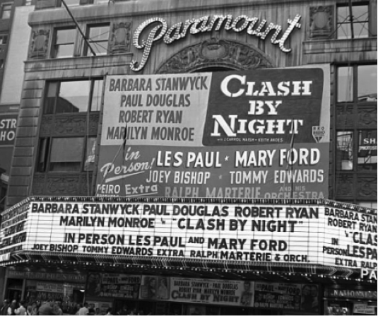 Paramount Theater Clash by Night marquee