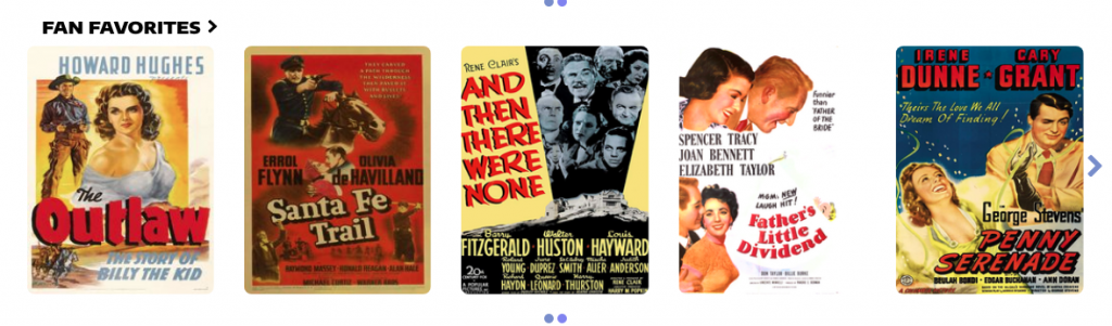 fan favorite classic films for streaming at Classic Movie Hub Channel on Best Classics Ever
